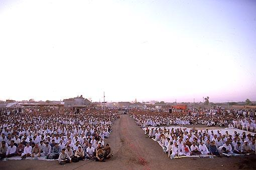 More than 10,000 devotees had assembled for the celebration