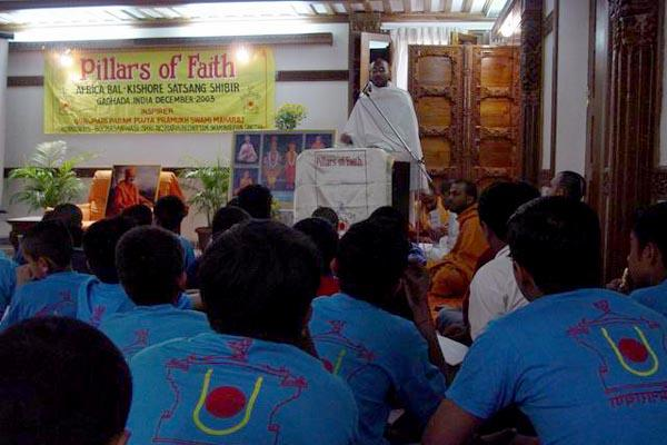 Speeches and presentations on a variety of topics by sadhus