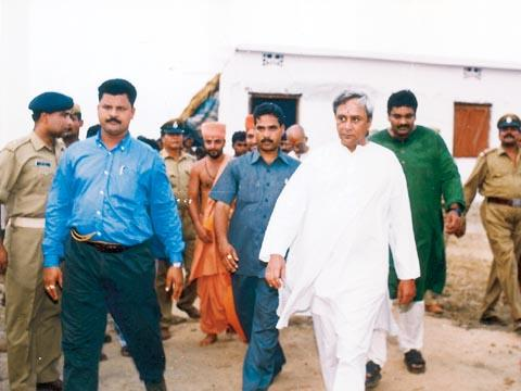 The Chief Minister takes a tour of the village