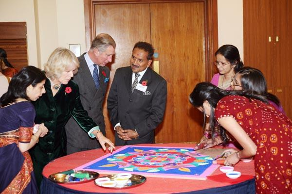 Royal visit on Diwali,london -
