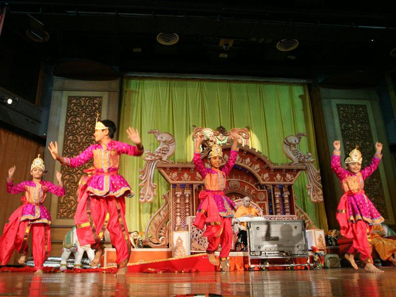 A cultural dance presented by kids