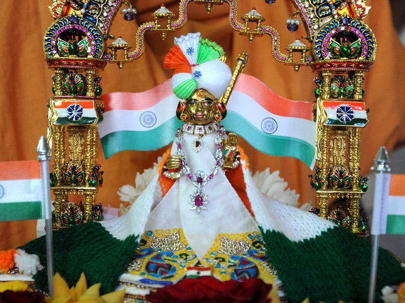Thakorji dressed in tricolors for Republic Day of India