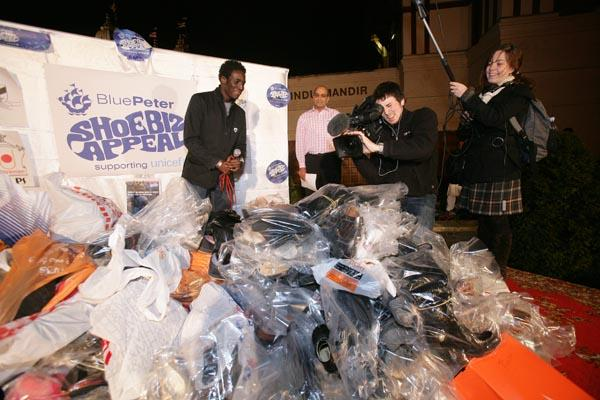 Andy Akinwolere � Blue Peter Presenter launches Blue Peter 'Shoebiz Appeal'
