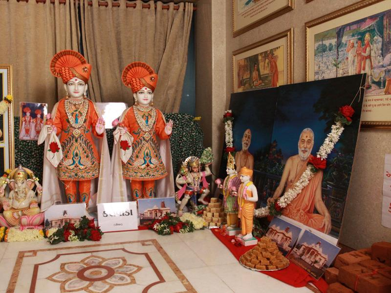 Murtis to be consecrated at new BAPS Shri Swaminarayan Mandir at Kalvada (Tithal)