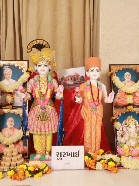 Murtis to be consecrated at new BAPS Shri Swaminarayan Mandir at Surkhai (Tithal)