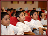 The Swaminarayan Sampraday: 1781 Delegates watch and participate in the evening program