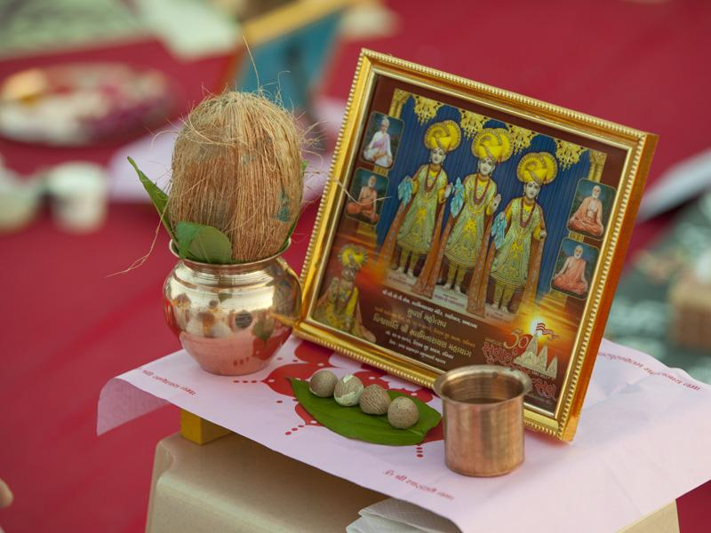 Mahapuja items ready for the rituals