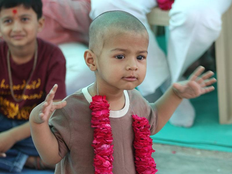 A child enjoying the divine ambience