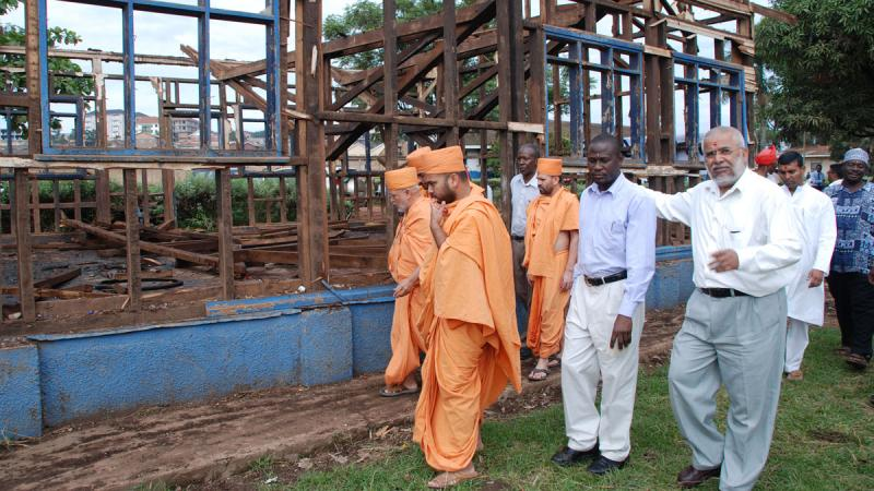 BAPS helps build Classroom Block