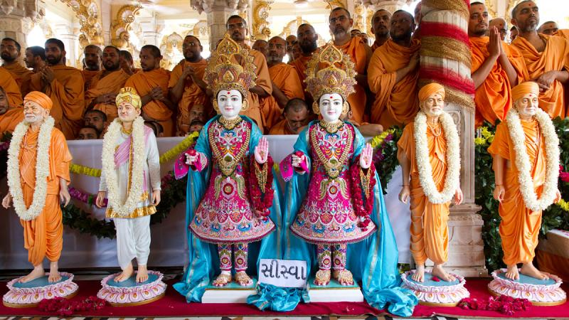 Murtis for the new BAPS Swaminarayan Mandir (Hari Mandir) at Siswa