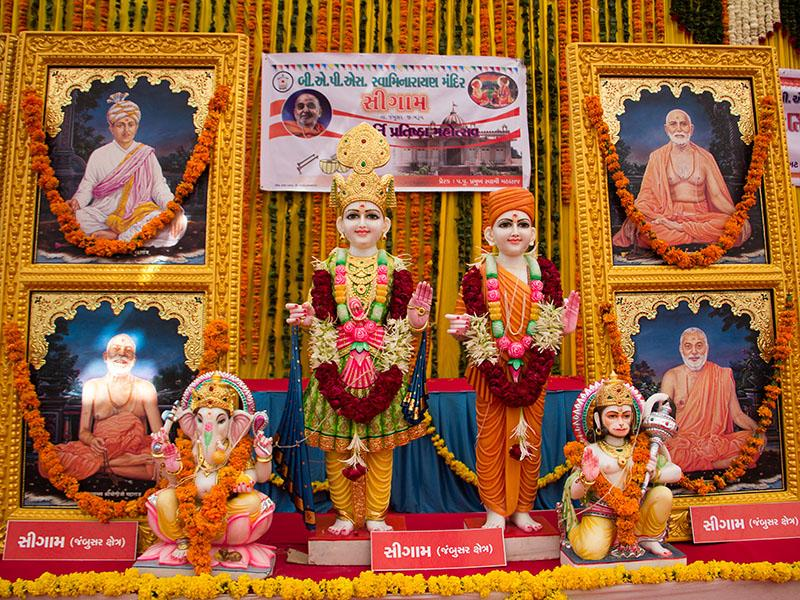 Murtis to be consecrated at BAPS Shri Swaminarayan Mandir in Sigam