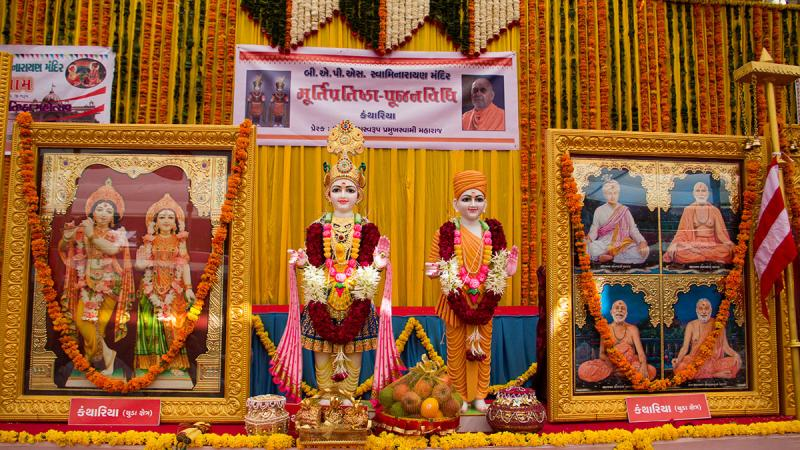 Murtis to be consecrated at BAPS Shri Swaminarayan Mandir in Kanthariya