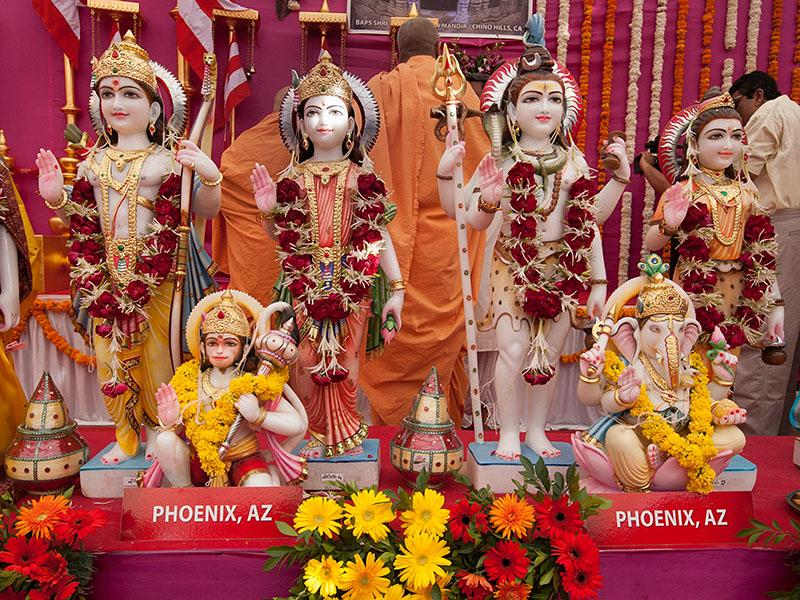Murtis to be consecrated at BAPS Shri Swaminarayan Mandir in Phoenix, AZ
