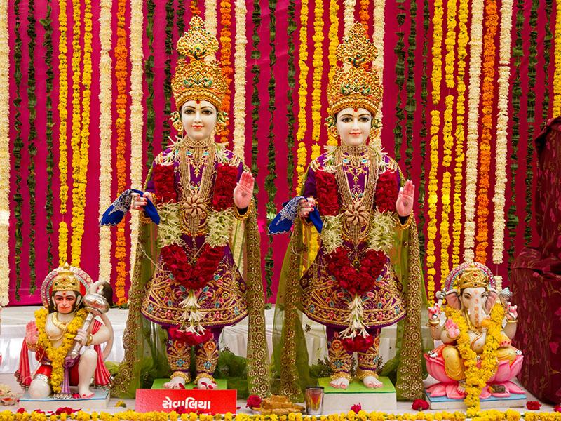 Murtis to be consecrated at new BAPS Shri Swaminarayan Mandir at Sevaliya, India