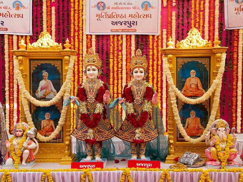 Murtis to be consecrated at new BAPS Shri Swaminarayan Mandir at Ajarpura, India