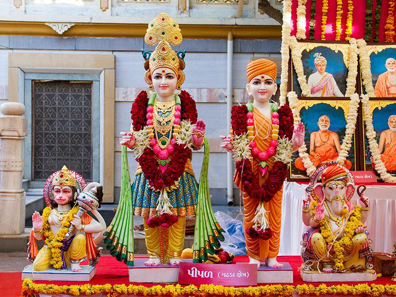 Murtis to be consecrated at BAPS Shri Swaminarayan Mandir at Pipal (Gadhada), India