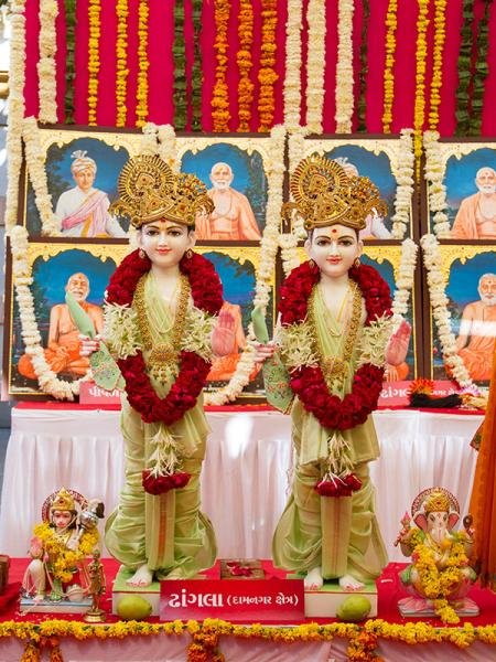 Murtis to be consecrated at BAPS Shri Swaminarayan Mandir at Dhangla (Damnagar), India