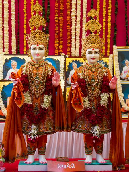 Murtis to be consecrated at BAPS Shri Swaminarayan Mandir at Ugamedi (Gadhada), India