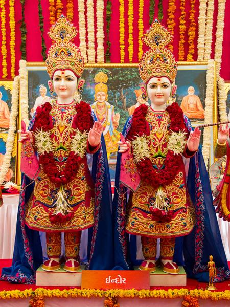 Murtis to be consecrated at BAPS Shri Swaminarayan Mandir at Indore (MP), India