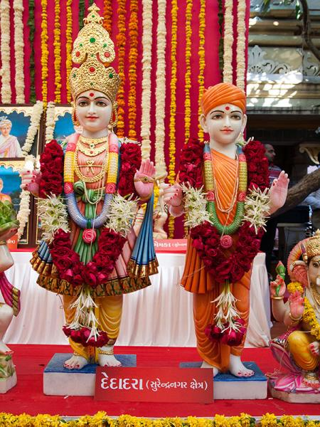 Murtis to be consecrated at BAPS Shri Swaminarayan Mandir at Dedadra (Surendranagar), India