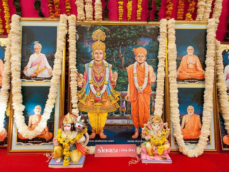 Murtis to be consecrated at BAPS Shri Swaminarayan Mandir at Kolvada (Gandhinagar), India