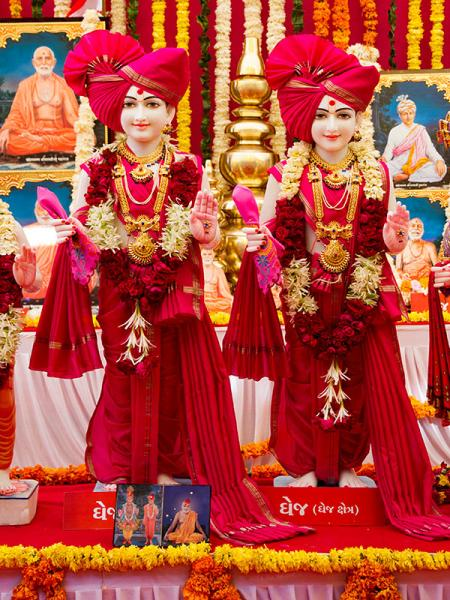 Murtis to be consecrated at BAPS Shri Swaminarayan Mandir at Dhej, India
