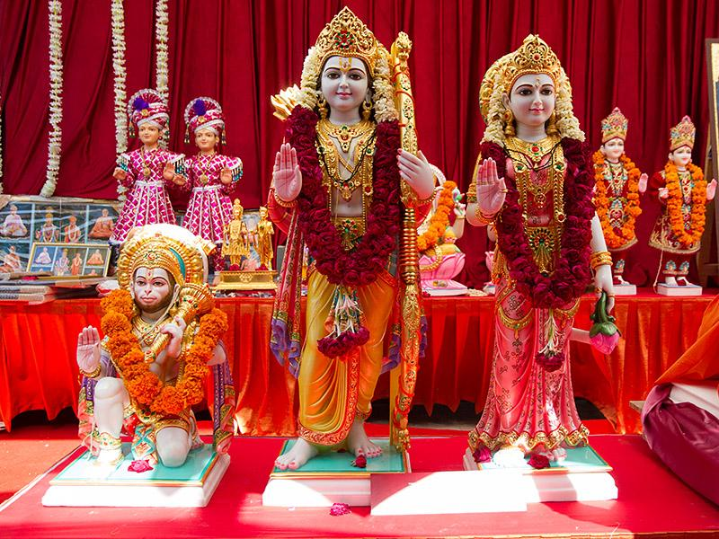 Shri Sita-Ram Dev and Shri Hanumanji's murtis to be consecrated at BAPS Shri Swaminarayan Mandir at Selvas, India