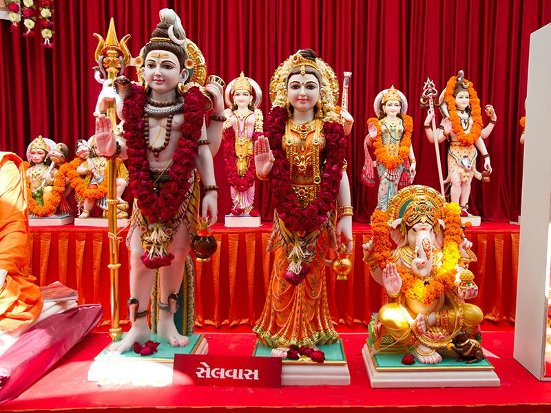 Shri Shiv-Parvati Dev and Shri Ganeshji's murtis to be consecrated at BAPS Shri Swaminarayan Mandir at Selvas, India