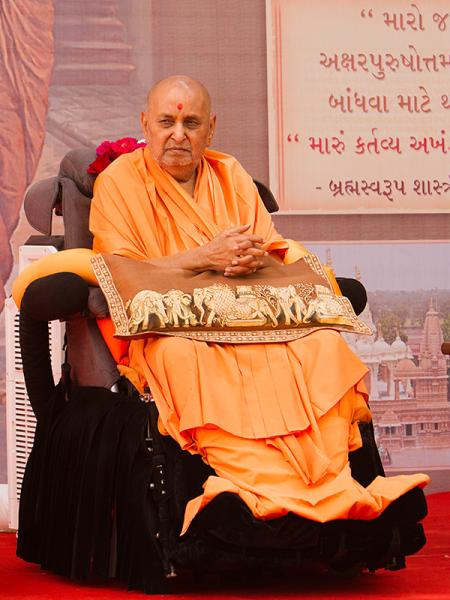 Swamishri during the congregation