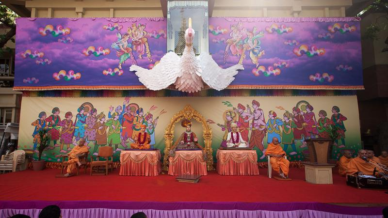 Brahmaswarup Bhagatji Maharaj Janmotsav - birthday celebration assembly