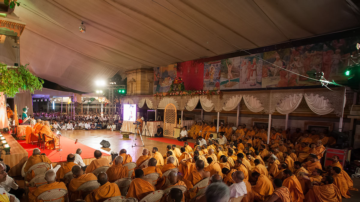 Devotees during the celebration assembly