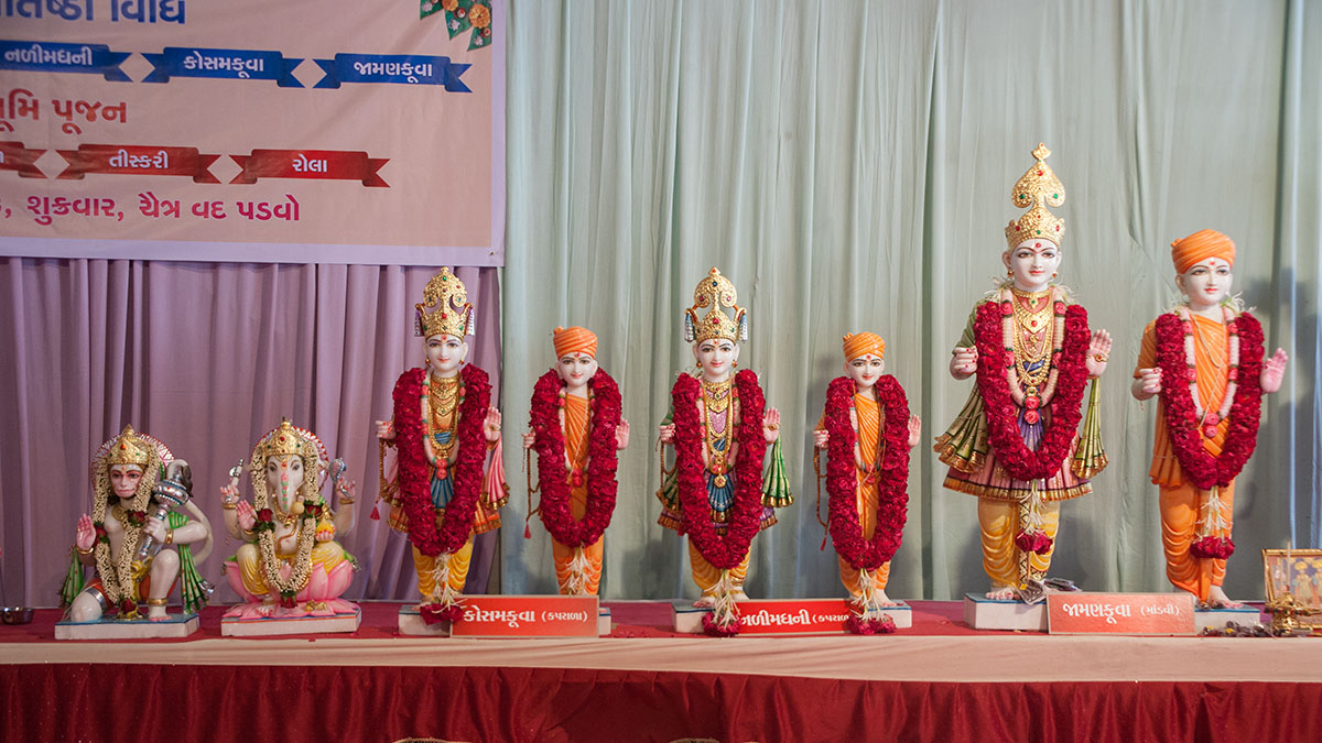 Murtis to be consecrated at various BAPS Shri Swaminarayan Mandirs