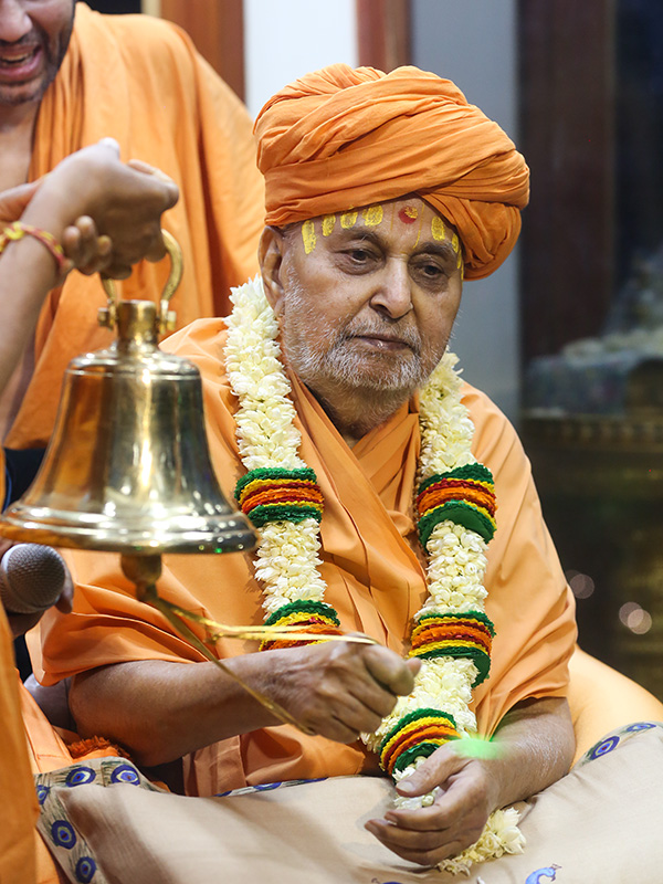 Swamishri rings a bell
