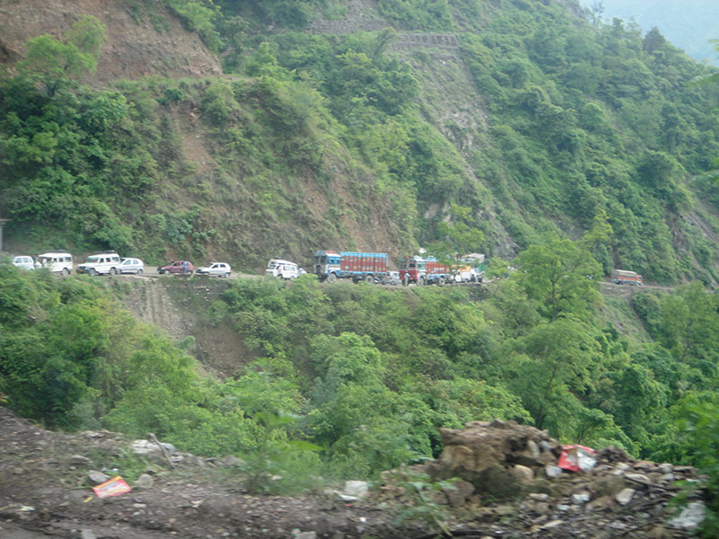 On the way to Uttarkashi, July 13