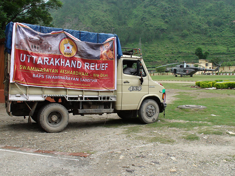 Relief material dispatch