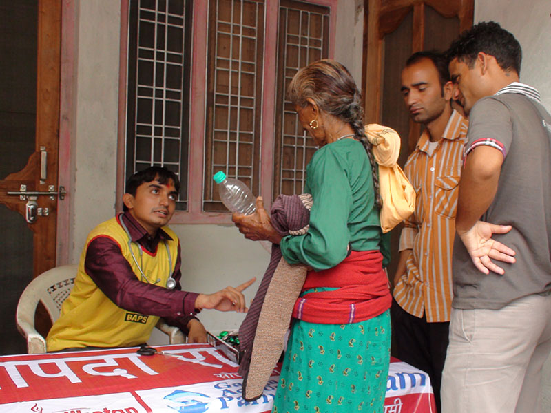 Medical Care and Relief Distribution at Delva-Bandarkot
