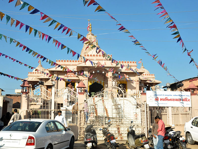 BAPS Shri Swaminarayan Mandir in Chansad, the village where HH Pramukh Swami Maharaj was born