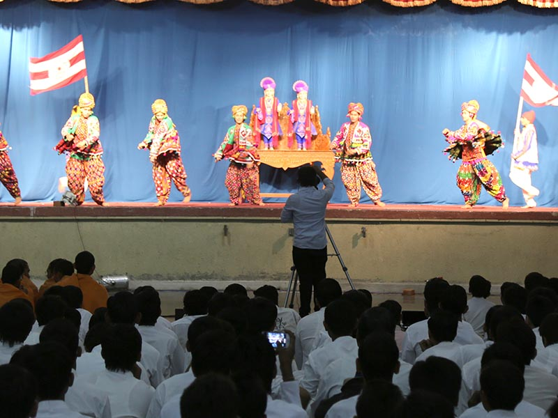 Cultural dance performance by students