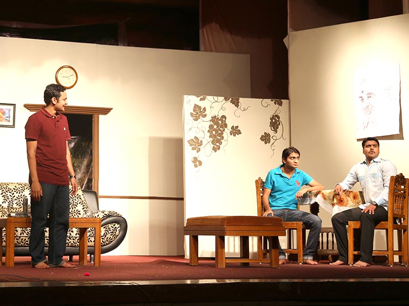 Drama performance by students