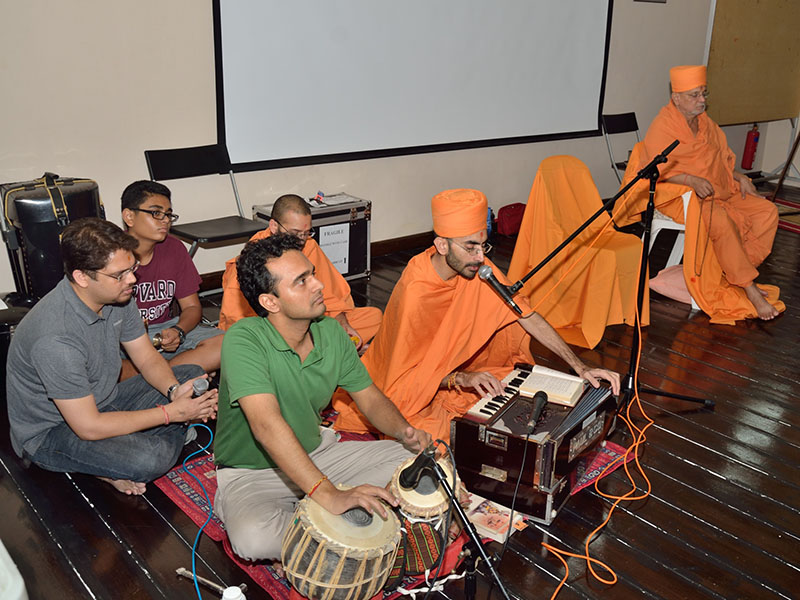 Kirtan bhakti during Satsang assembly in Singapore