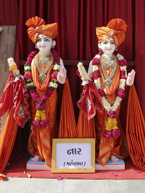 Murtis to be consecrated for new BAPS Shri Swaminarayan Mandir, Nar, Mahelav