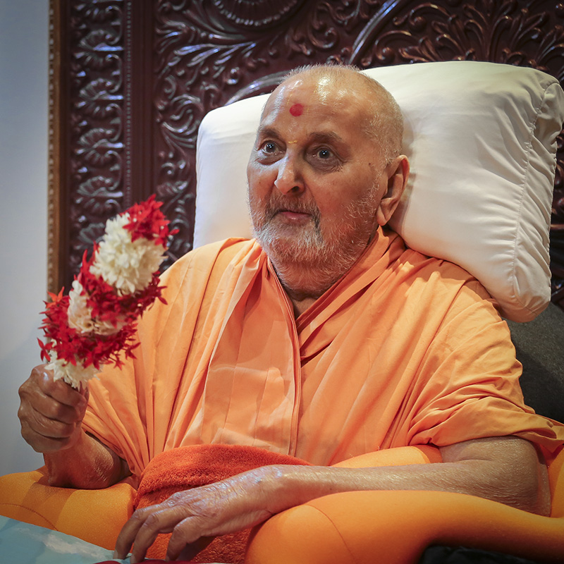 Swamishri waves chhadi