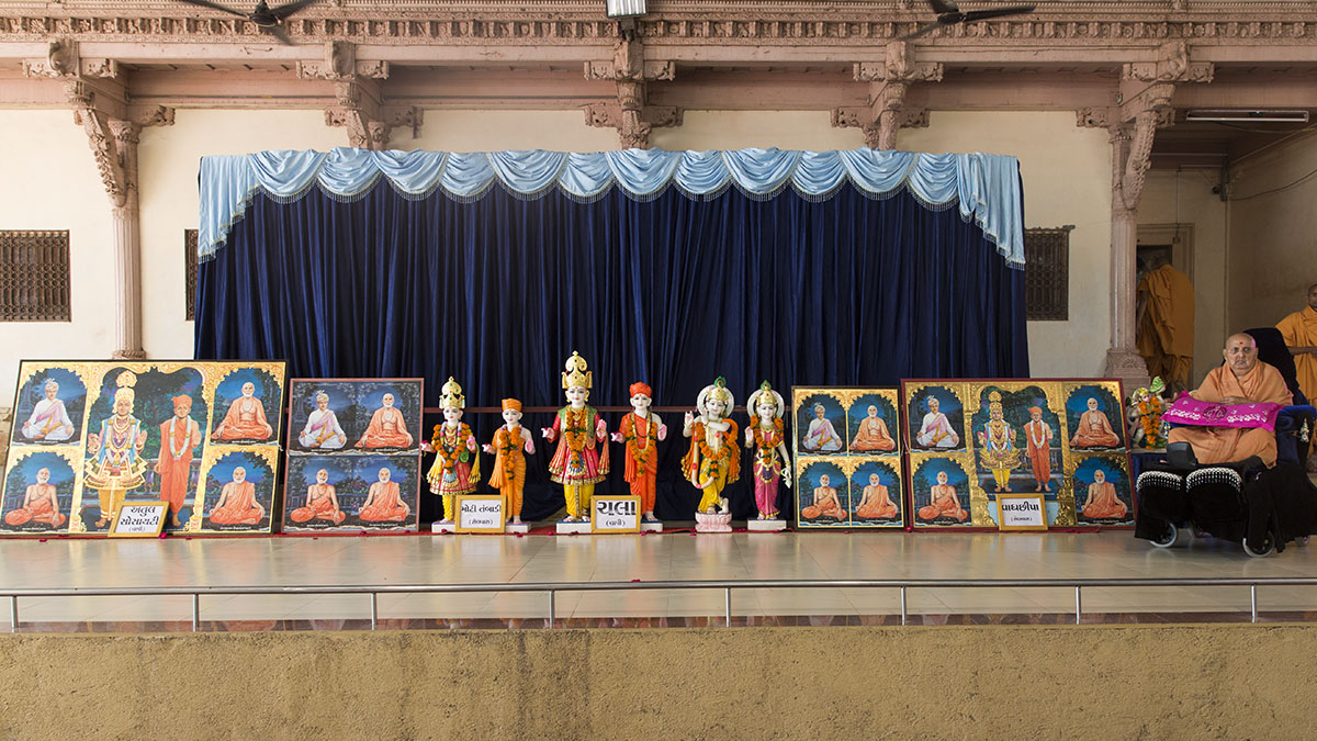 Murtis to be consecrated at BAPS Shri Swaminarayan Mandirs at Chala (Vapi), Atul Society (Vapi), Moti Tambadi (Silvassa) and Vaghchhipa (Silvassa)