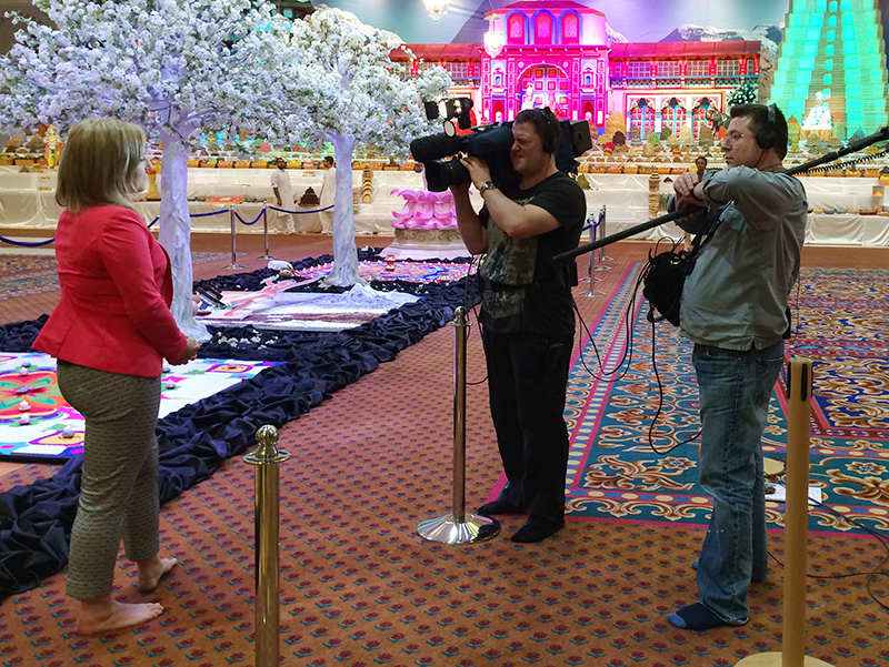 Good Morning Britain, ITV's breakfast television show, broadcast live from the Mandir