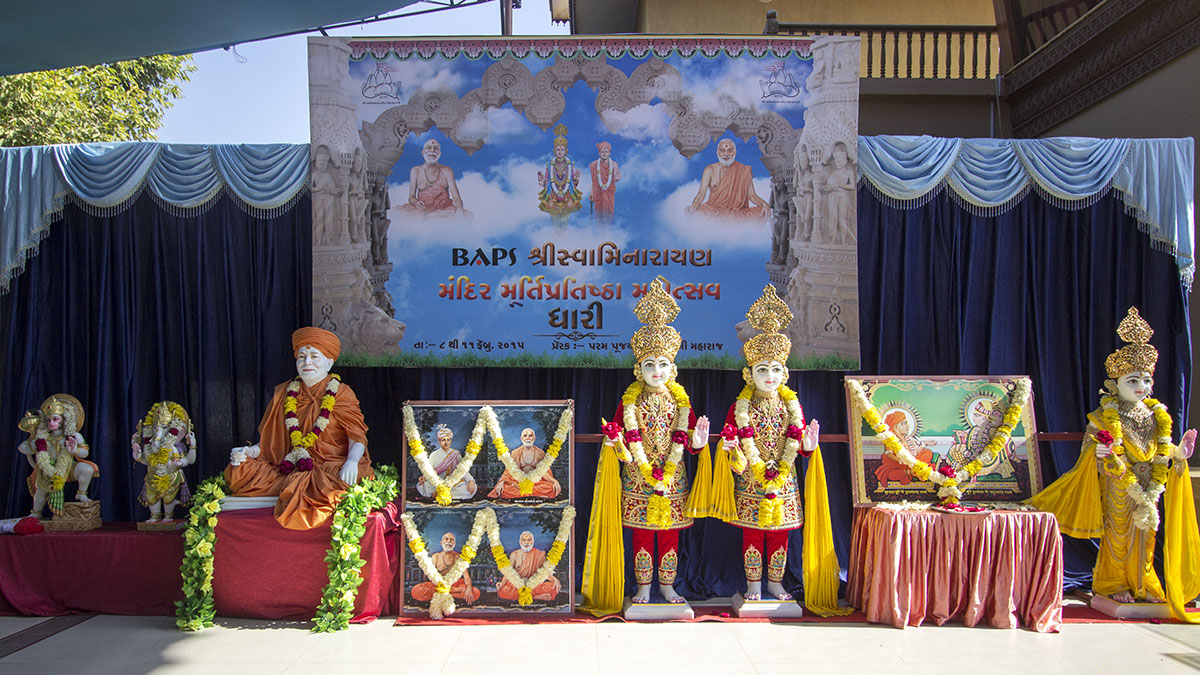 Murtis to be consecrated for new BAPS Shri Swaminarayan Mandir, Dhari