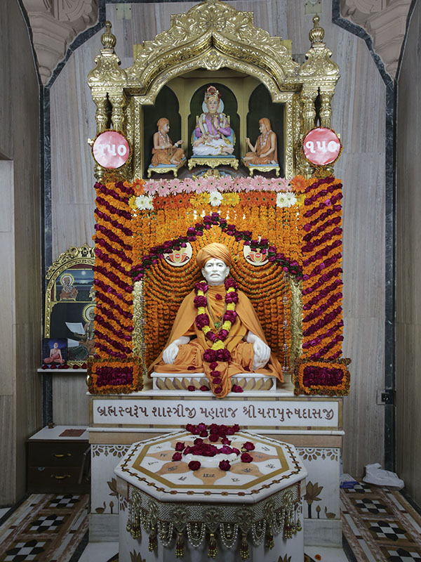 Brahmaswarup Shastriji Maharaj on his 150th birth anniversary as per the Gregorian calendar