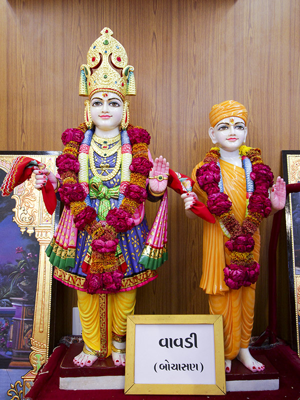 Murtis to be consecrated for New BAPS Shri Swaminarayan Mandir, Vavdi, Bochasan, India