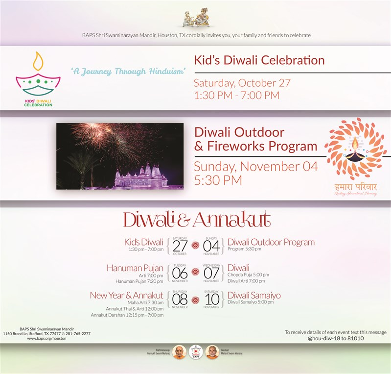 Diwali Fireworks and Outdoor Program