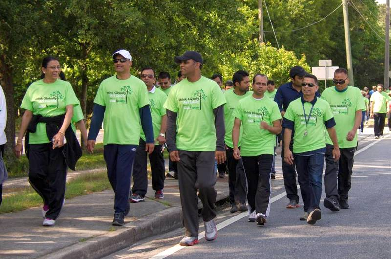 BAPS Charities Annual Walk Green 2019