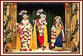 Shri Harikrishan Maharaj and Shri Radha Krishna Dev